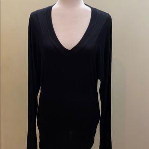BCBG Max Azria long V neck Modal comfy shirt top